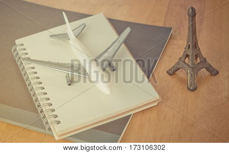 Paris Travel Blogger and travel notebook journal concept