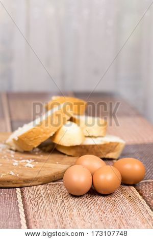 Preparing French Toast With Eggs For Breakfast