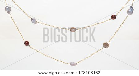 Jewelry - necklace on neutral background affair.