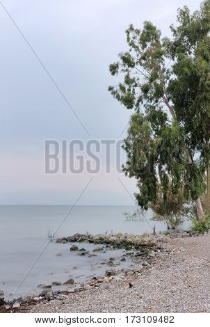 Sea of Galilee (Kinneret) the largest freshwater lake in Israel