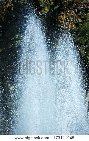 Beautiful Fountain In Park
