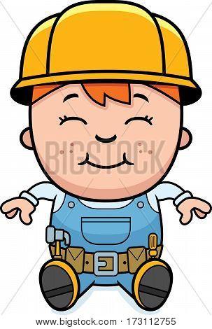 Builder Child Sitting