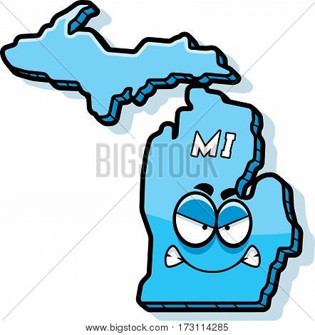 Cartoon Angry Michigan