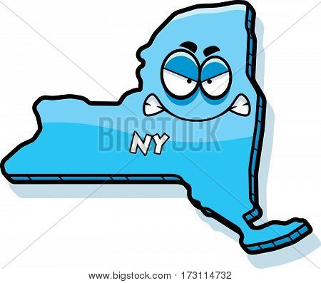 Cartoon Angry New York