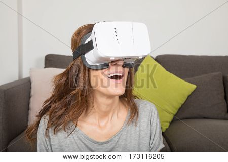 Woman With 360 Glasses Smiling