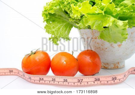 diet background green fresh salad  ,organic natural vegetarian tomato