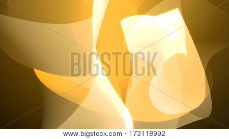 Yellow Abstract Backdrop With Bend And Twist Shapes