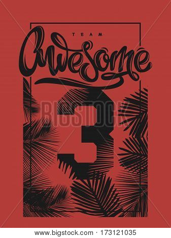 Awesome print poster tee shirt apparel cover design.