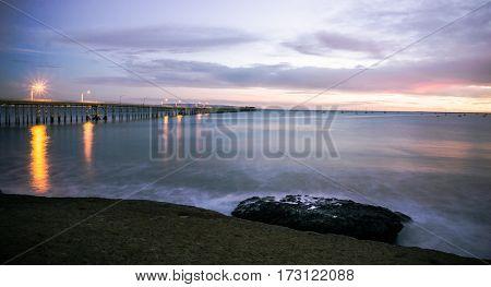 A Sunset on the California coast line