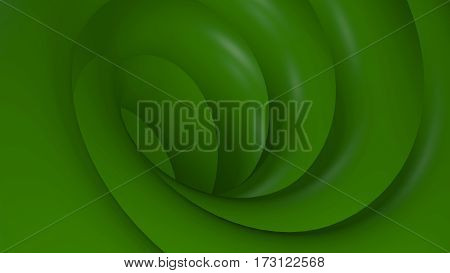 3D Illustration Abstract Green Background with Glare