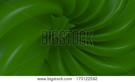 3D Illustration Abstract Green Background
