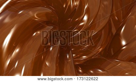 3D Illustration Abstract Honey Background Silk Cloth