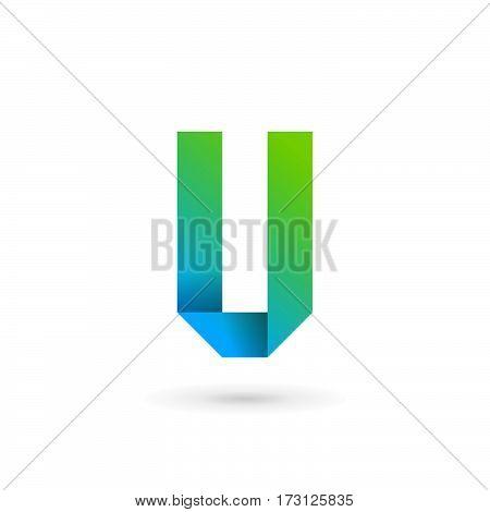 Letter V Ribbon Logo Icon Design Template Elements