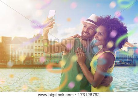 Couple celebrating the Carnival in Recife, Brazil