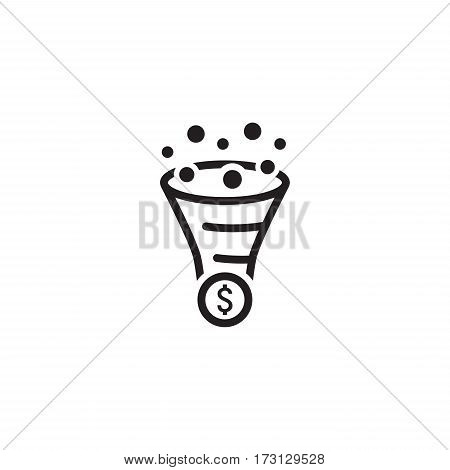 Conversion Rate Optimisation Icon. Business Concept. Flat Design. Isolated Illustration.