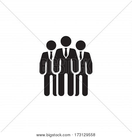 Team Icon. Business Concept. Flat Design. Isolated Illustration.