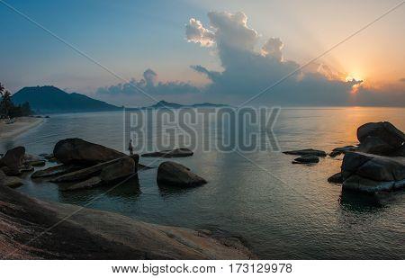 Seascape At Lamai Beach On Samui Island In Thailand