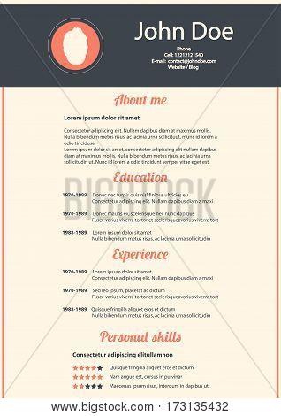 modern design template of CV,  vector illustration, eps10