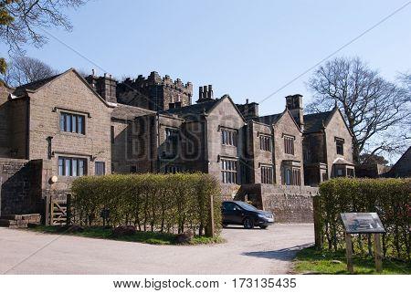 Derbyshire UK - April 04: Longshaw Estate on 18 April at Longshaw Estate Peak District UK
