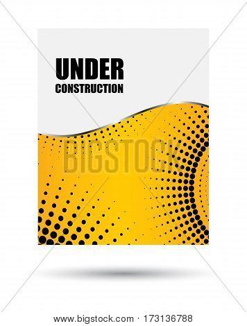vector brochure template design under construction dotted flyer