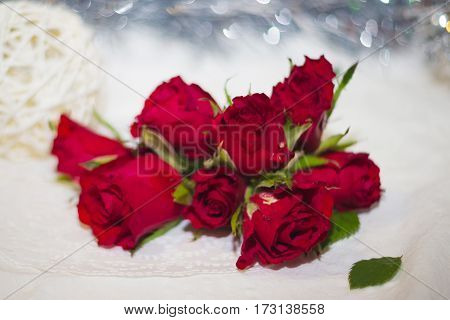 Red Roses Buds