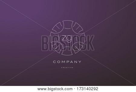 Zg Z G Monogram Floral Line Art Flower Letter Company Logo Icon Design