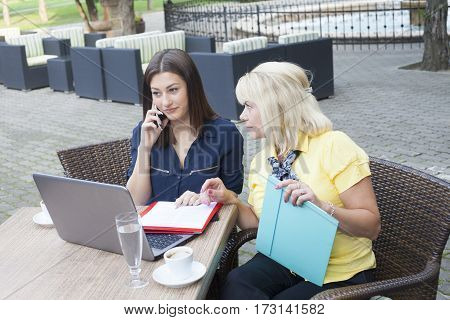 Young Business Woman At A Meeting
