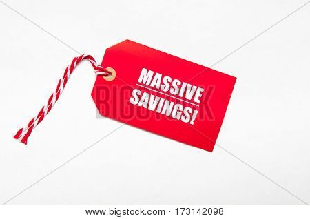 Sale Price Reduction Tag For Discounts