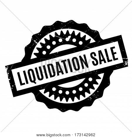 Liquidation Sale rubber stamp. Grunge design with dust scratches. Effects can be easily removed for a clean, crisp look. Color is easily changed.