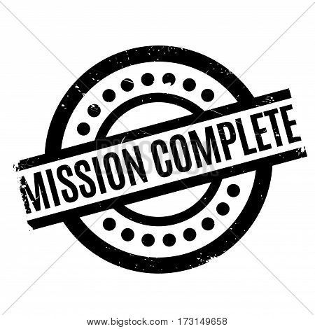 Mission Complete rubber stamp. Grunge design with dust scratches. Effects can be easily removed for a clean, crisp look. Color is easily changed.