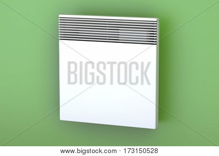 Convection heater on the wall 3D rendering