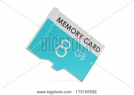 memory card 8 GB 3D rendering isolated on white background