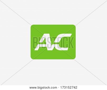AC letter logo . Vector logo template. Design elements.