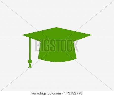 Education symbol. Cap icon. Simple design education symbol.