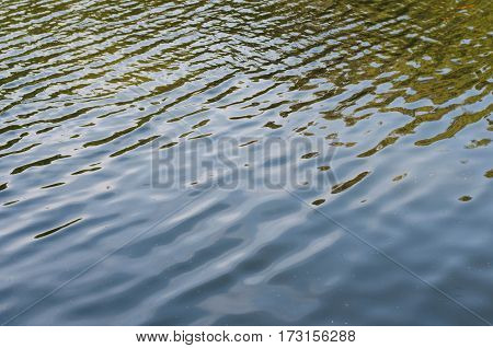 Texture of rippled dark water surface with highlights