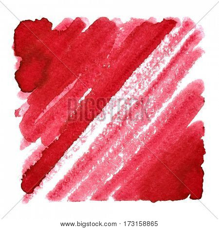 Red abstract background with oblique strokes. Space for your own text. Raster illustration