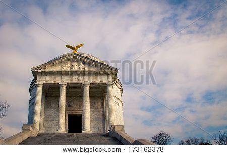 Illinois State Memorial in Vicksburg Mississippi USA