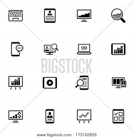 Business and Finances Icons Set. Flat Design. Isolated Illustration.