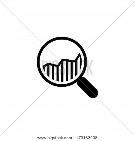 Financial Analysis Icon. Business Concept. Flat Design. Isolated Illustration.
