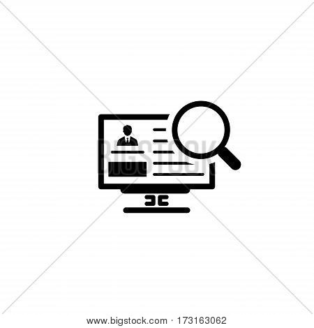 Search for Partners Icon. Business Concept. Flat Design. Isolated Illustration.