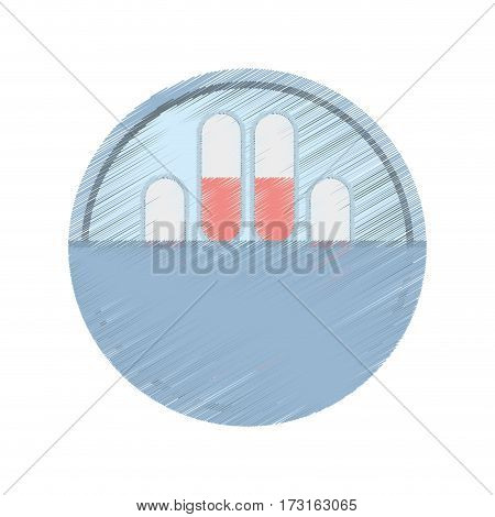 drawing medication capsule pills vector illustration eps 10