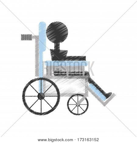 drawing patient wheelchair medical equipment vector illustration esp 10
