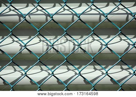 Diamond Wire with Corrugated Iron Background