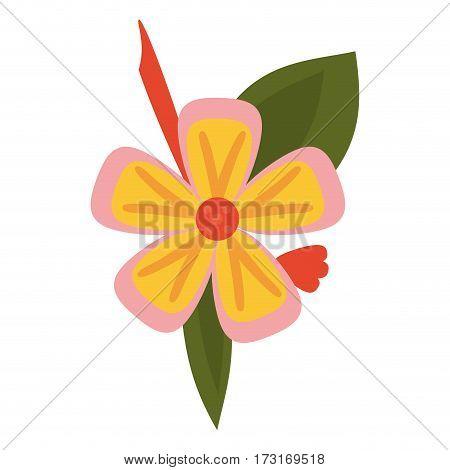 freesia flower tropical icon vector illustration eps 10