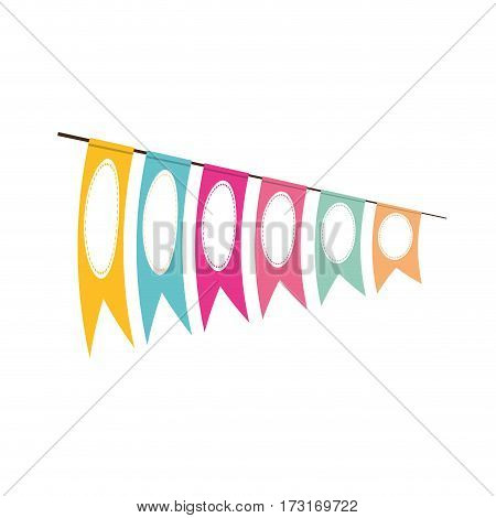 pennant decoration festive clored vector illustration eps 10