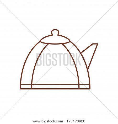 teapot hot beverage out line vector illustration eps 10