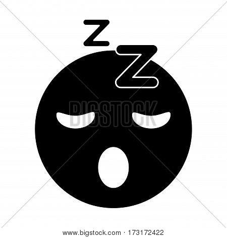 sleepy emoticon funny pictogram vector illustration eps 10