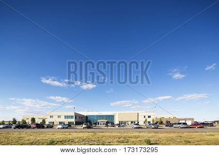 Hospital Building Against Blue Sky
