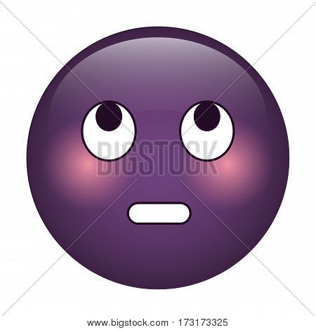 eye rolling emoticon funny icon vector illustration eps 10