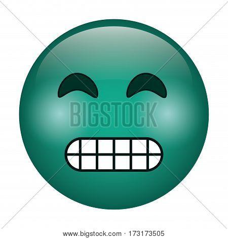 grimacing face emoticon funny icon vector illustration eps 10